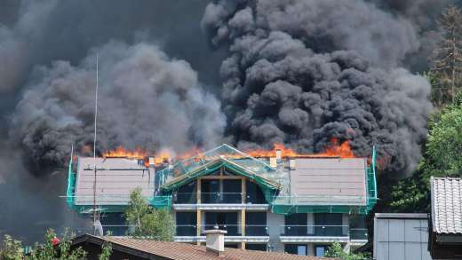 Grote brand in Hotel Fieberbrunn