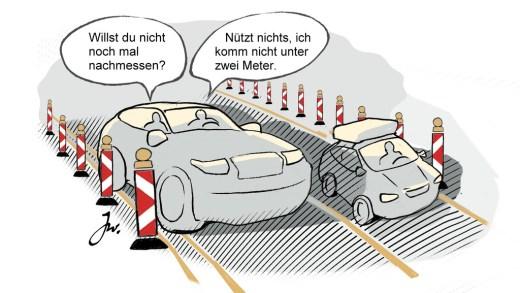 Baustelle Werkzaamheden Duitsland, Linkerbaan verboden?
