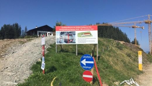 Itter Salvistabahn bergstation Bouwplaats