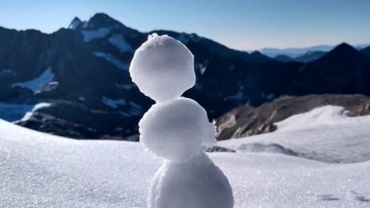 Stubaier Gletsjer sneeuwpopje