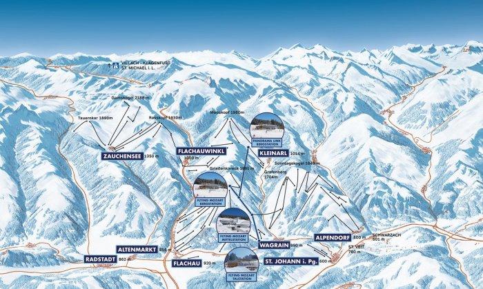 overzicht Snow Space Salzburg