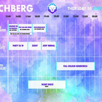 Dutchweek Kirchberg timetable donderdag