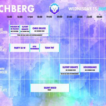 Dutchweek Kirchberg timetable woensdag