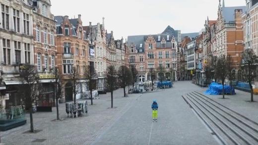 Skiën in de binnenstad van Leuven VIDEO
