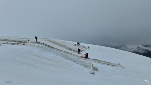 Hintertux wordt ingepakt! Snowfarming