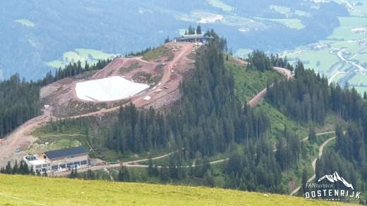 Bouwplaats SkiWelt Itter Salvistabahn