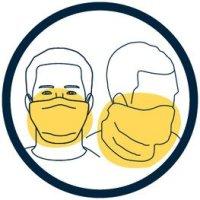 Covid 19 icoon mond neus bescherming