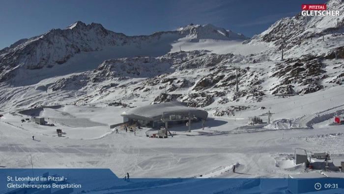 Pitztaler Gletsjer er wordt geskied!