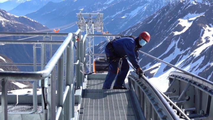 Stubaier Gletsjer Revisie werkzaamheden