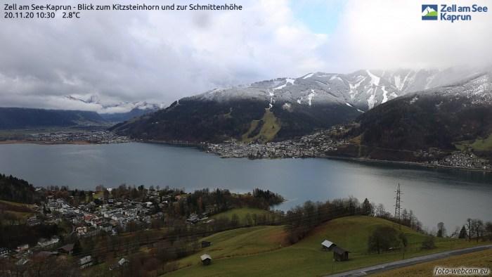 Zell am See mooie sneeuwgrens rond de 1000 meter
