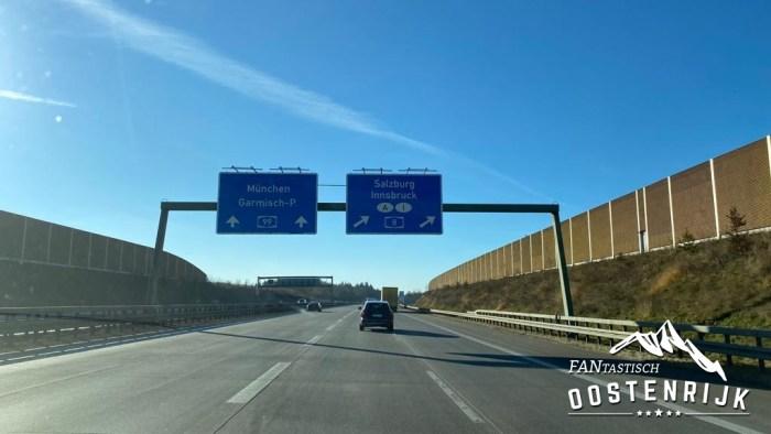 Autobahn Afslag A99 Munchen A8 Salzburg Innsbruck