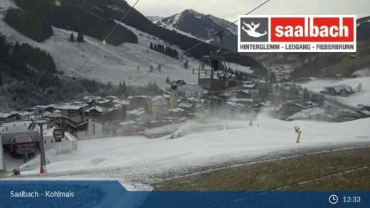 Sneeuw Saalbach