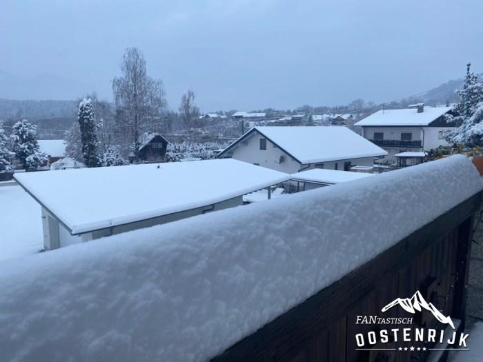 Lieserbrücke Karinthië 3 december 20 cm sneeuw