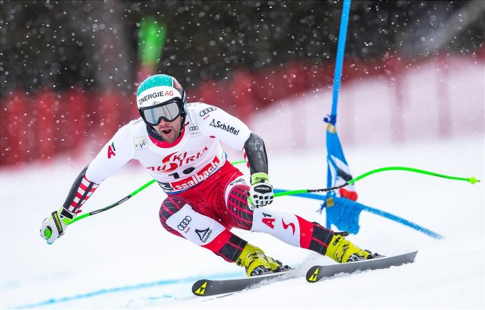 Vincent Kriechmayr beim Weltcup 2020 in Saalbach