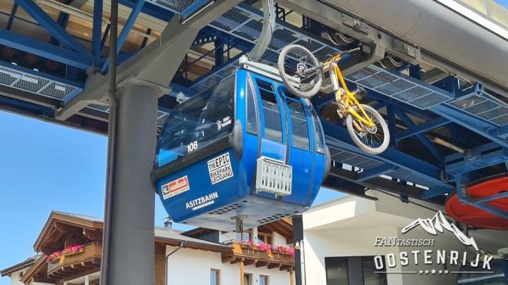 Leogang Asitzbahn Mountainbike ophangen