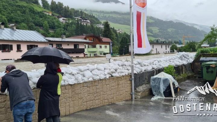 Mittersill overstroomt 18 juli 2021