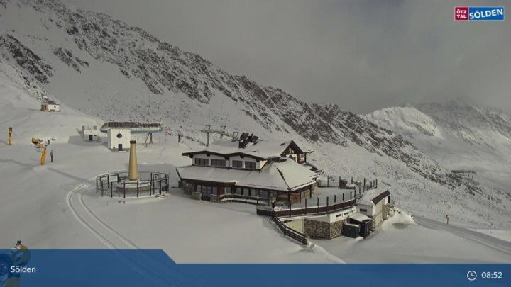 Sölden Seekogl sneeuw op 13 okt 2021