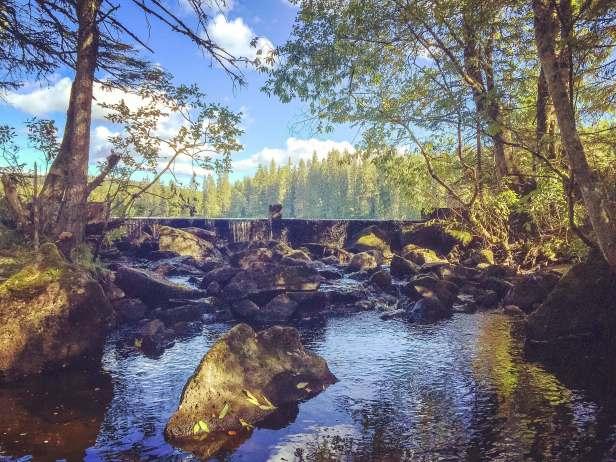 Dammen ved Asdøltjern - Asdøljuvet - Oslomarka - Vestmarka - Fantastiske marka