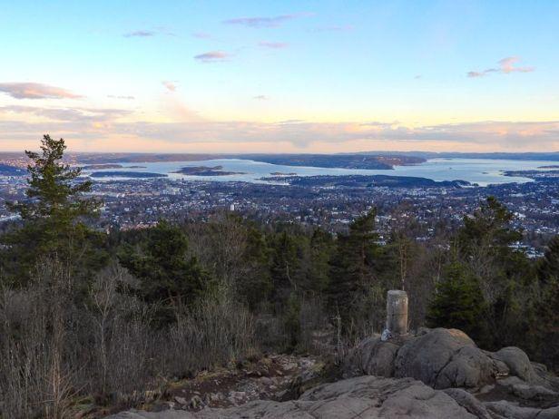 Utsikt over Oslo og Oslofjorden fra Vettakollen - Oslomarka - Nordmarka - Fantastiske marka
