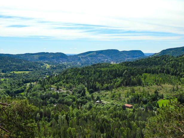 Kolsåstoppene sett fra Solkollen - Oslomarka - Krokskogen - Fantastiske marka