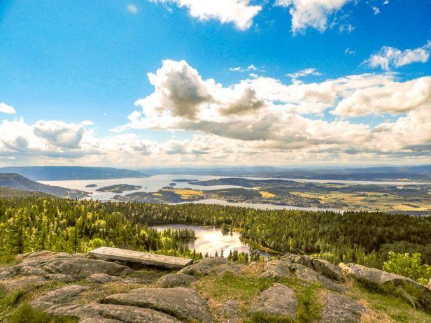 Utsikten fra Gyrihaugen - Oslomarka - Krokskogen - Fantastiske marka