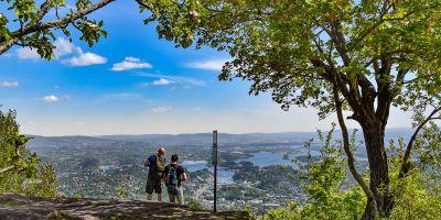 Utsikten fra Skaugumsåsen mot Oslo - Oslomarka - Vestmarka - Fantastiske marka