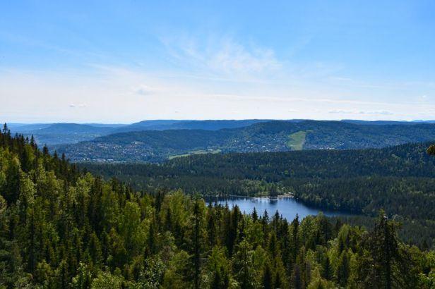 Utsikten fra gapahuken over Burudvann - Oslomarka - Bærumsmarka - Fantastiske marka