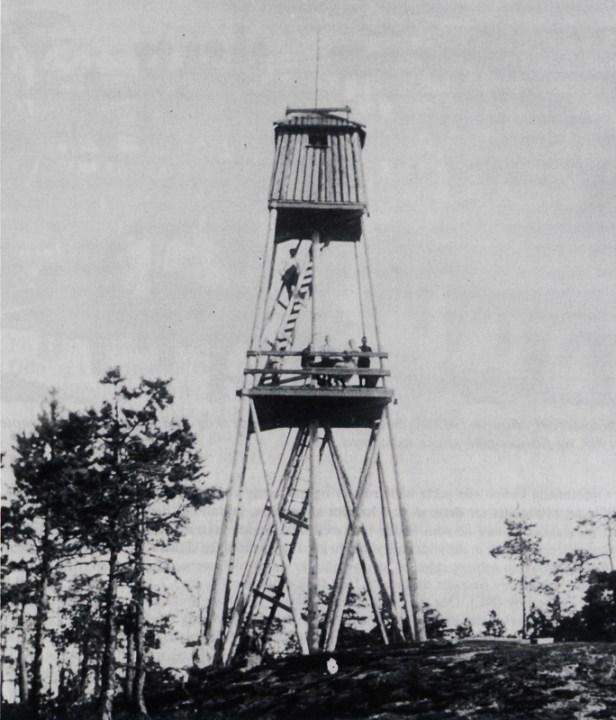 Brannvakttårn på Kjerringshøgda - ukent fotograf - før 1925