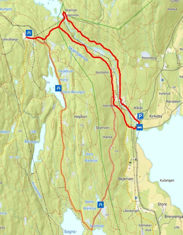 Turkart - Hammeren til Ullevålseter - Maridalen - Oslomarka - Nordmarka - Fantastiske marka
