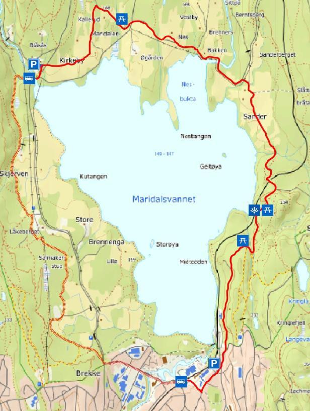 Turkart - Rundt Maridalsvannet - Oslomarka - Nordmarka - Fantastiske marka