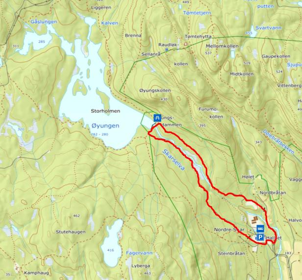 Turkart - Skar til Øyungsdammen - Maridalen - Oslomarka - Nordmarka - Fantastiske marka