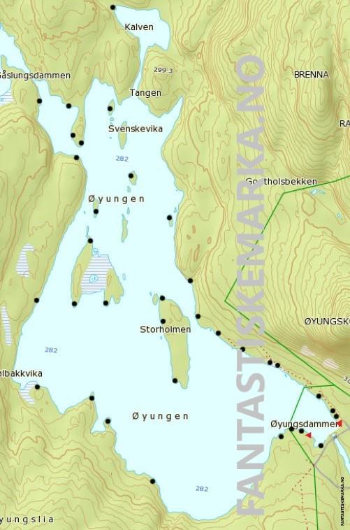 Leirplasser ved Øyungen i Nordmarka - Teltplasser - Hengekøyeplasser - Oslomarka - Fantastiske marka