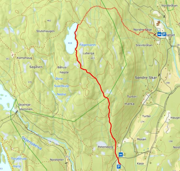 Turkart - Hønefoten til Fagervann - Maridalen - Oslomarka - Fantastiske marka