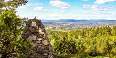 Fantastisk utsikt fra Bjønnåsen i Østmarka - Oslomarka - Topper - Utsiktspunkt - Rælingen - Fantastiske marka