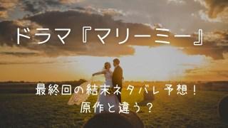 マリーミー(ドラマ)最終回の結末ネタバレ予想!原作と違う?