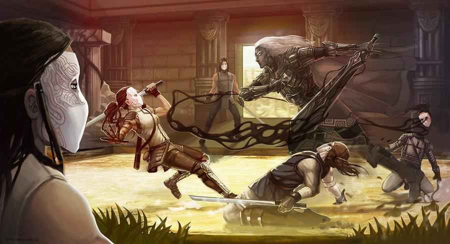 'Blacksword Visits': Anomander Rake by Shadaan