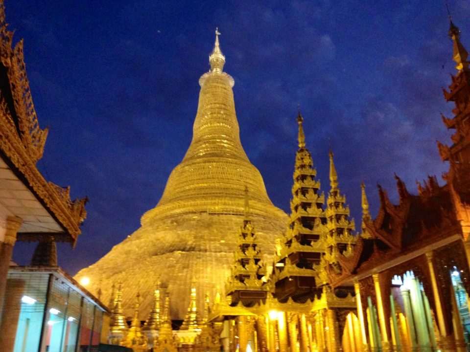 The Pagoda at night