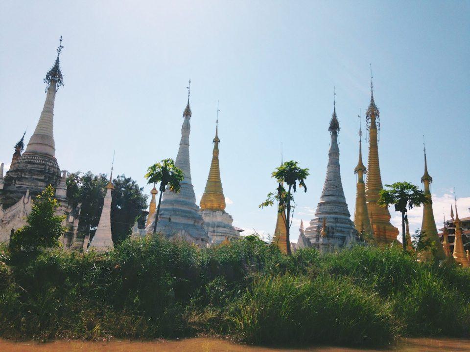 Stupas in Indein Village