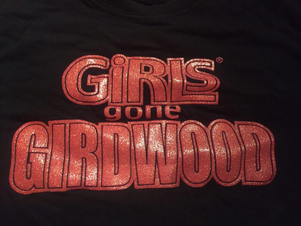 Fantasy Aisle, redefining sexy, The Girls Gone Girwood logo on a t shirt