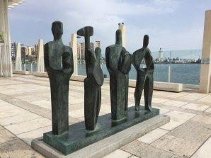 Fantasy Aisle, Art work along the promenade in Málaga, Spain