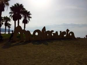 Fantasy Aisle, La Playa, the beach Malagueta on the Mediterranean Sea