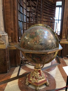 Fantasy Aisle, One of the four globes at the Austrian National Library VIenna