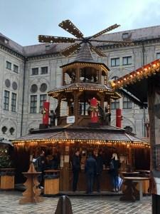 Fantasy Aisle, Pyramid, center of the Weihnachtsdorf in Kaiserhof der Residenz
