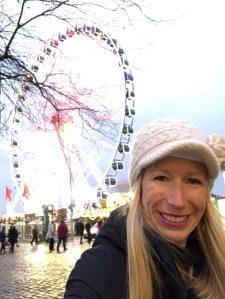 Fantasy Aisle, Ferris Wheel in the Old Town of Düsseldorf, Germany