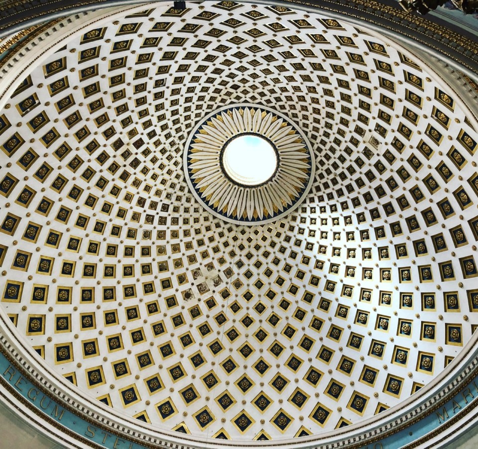 Fantasy Aisle, Mosta Dome, Third Largest Unsupported Church Dome in Europe