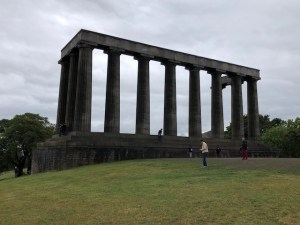 Fantasy Aisle, Calton Hill, National Monument honors the soldiers killed in the Napoleonic Wars