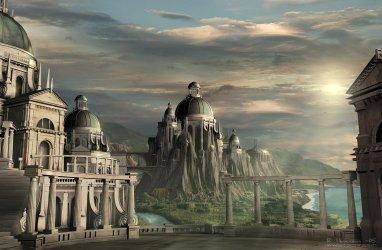 3d digital fantasy wallpapers parliament town palace castle sci fi desktop landscapes elvish fantasyartdesign futuristic fiction science architecture concept castles