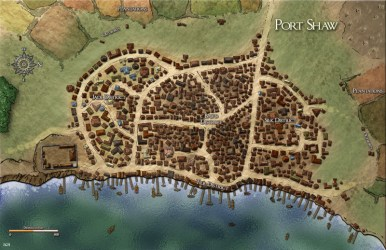 maps port map cities fantasy town towns 5e shaw dd