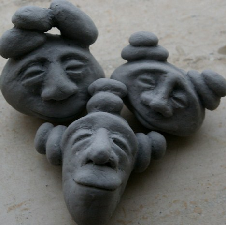 pebble people clay sculpting fantasy creations figurines