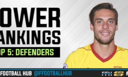 FPL Power Rankings 2017/18: Defenders (GW5)